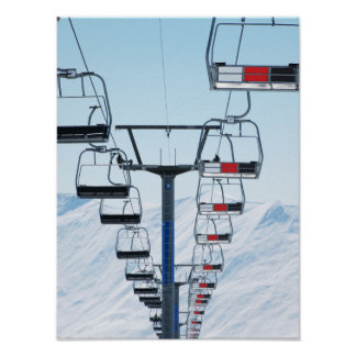 Télésièges de parc de ski affiches