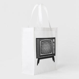 Téléviseur d'art de bruit rétro sac réutilisable