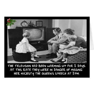 Télévision drôle de Noël Carte De Vœux