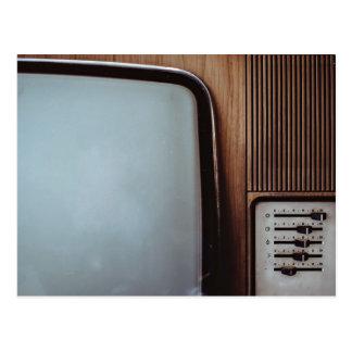 Télévision vintage avec des cadrans cartes postales