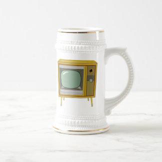 Télévision vintage tasses à café