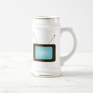 Télévision vintage tasse à café