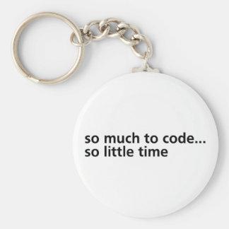 Tellement au code… porte-clé rond