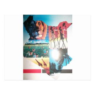 Temp horizontal de carte postale de Jambo Kenya