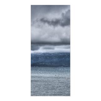 Tempête au-dessus du lac invitations personnalisées