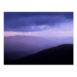 Tempête Berkshires de soirée de Greylock de bâti Carte Postale