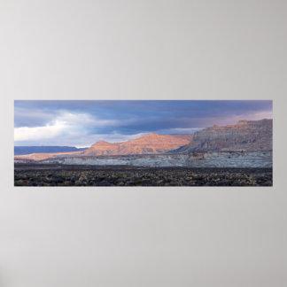 Tempête brassant l'Utah rural Posters