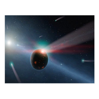 Tempête de comète carte postale