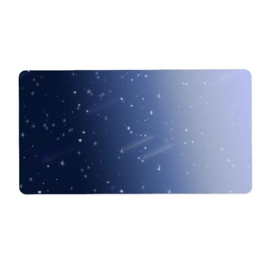 Tempête de cosmos étiquette d'expédition