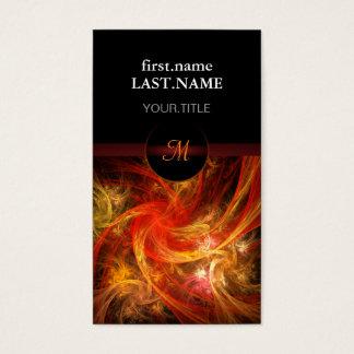 Tempête de feu fraîche élégante moderne cartes de visite