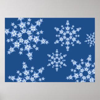 Tempête de neige de patchwork affiches