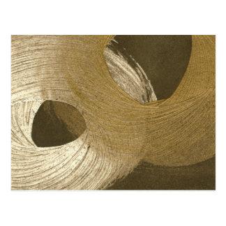 Tempête de sable circulaire dans Brown bronzage et Carte Postale