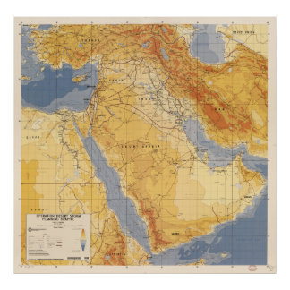 Tempête du désert d'opération prévoyant Map (1991) Poster
