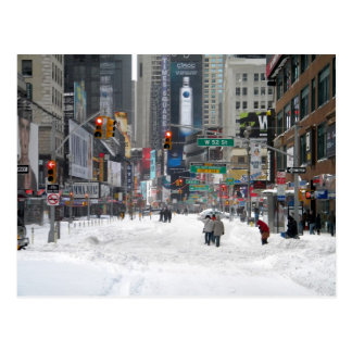 Tempête New York City 12/26/10 de neige d'hiver Carte Postale