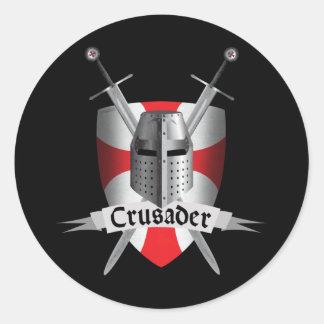 Templar - bras de croisé sticker rond