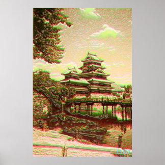 Temple asiatique affiches