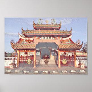 Temple bouddhiste chez Kota Kinabalu, Malaisie Poster