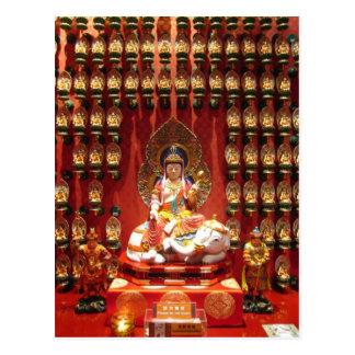 Temple bouddhiste chinois carte postale