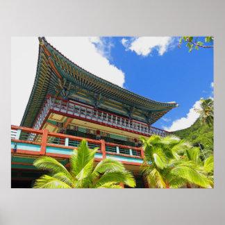 Temple bouddhiste coréen poster