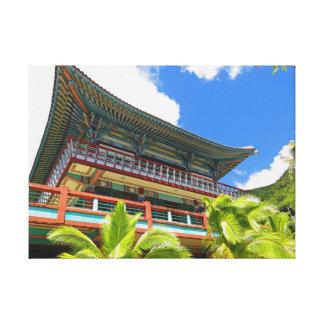 Temple bouddhiste coréen toile