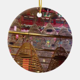 Temple bouddhiste de MOIS d'homme de Hong Kong Ornement Rond En Céramique