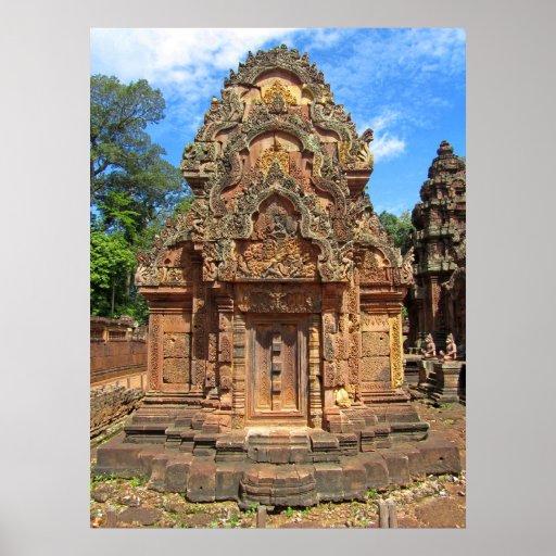Temple Chandi de Banteay Srei Poster