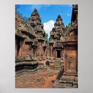 Temple Chandis de Banteay Srei Poster