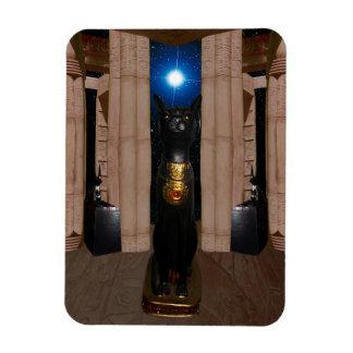 Temple d'aimant de photo de Bastet Magnets En Rectangle