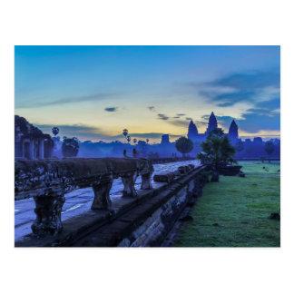 Temple d'Angkor Vat - carte postale du Cambodge