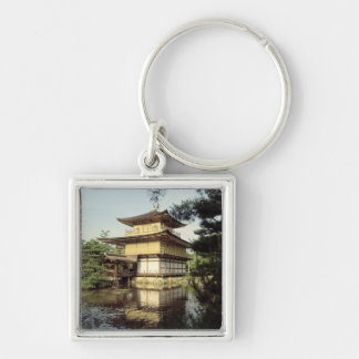 Temple de Kinkaku consacré à la mémoire Porte-clé Carré Argenté