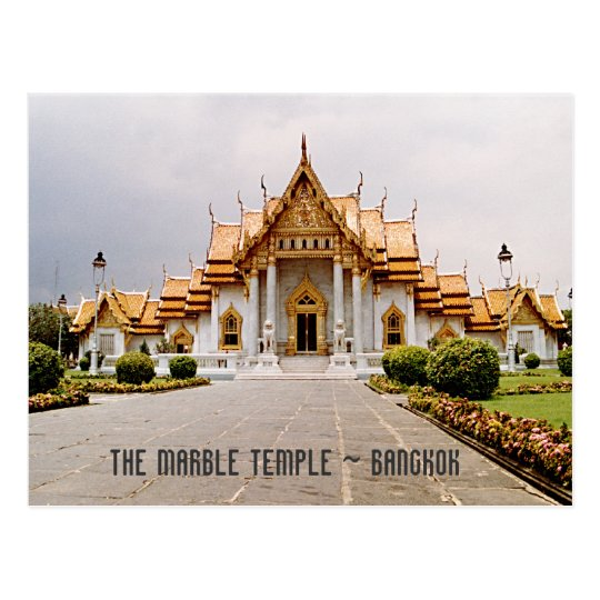 Temple de marbre d'or au-dessus de carte de cartes postales
