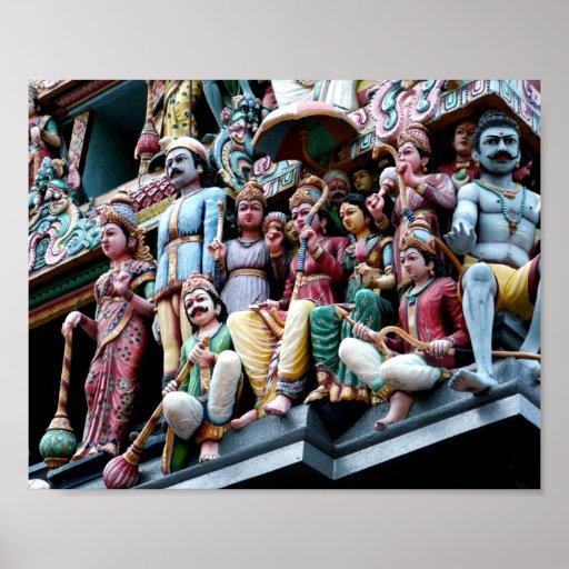 Temple de Sri Mariamman, Singapour Posters