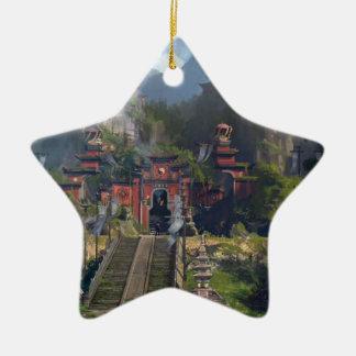 Temple de Taoist Ornement Étoile En Céramique