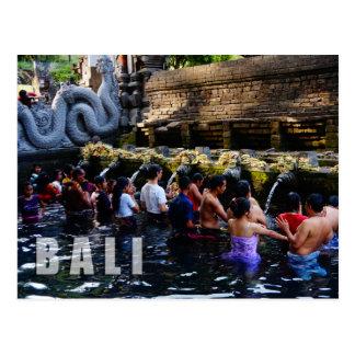 Temple de Tirta Empul dans Bali, Indonésie Carte Postale