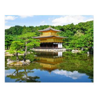 Temple du pavillon d'or, Kyoto, Japon Carte Postale