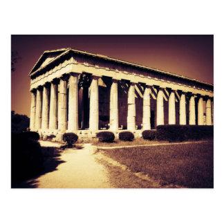 Temple grec à Athènes Carte Postale