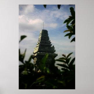 Temple hindou affiche