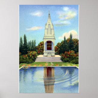 Temple hindou de la Région des lacs la Floride Posters