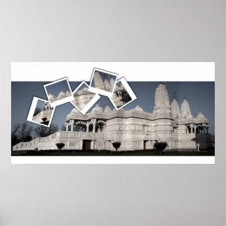 Temple hindou de Mandir Affiche
