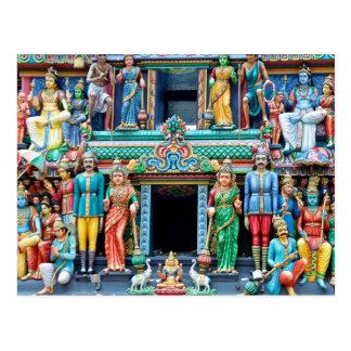 Temple hindou la peu d'Inde Singapour Carte Postale