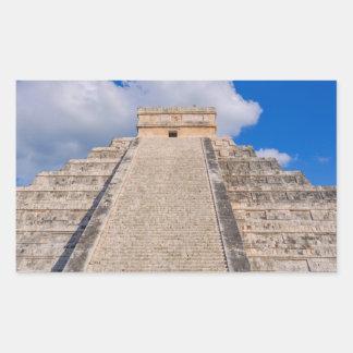 Temple maya de Chichen Itza au Mexique Sticker Rectangulaire