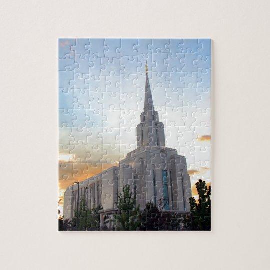 Temple mormon de l'Utah de montagne de LDS Oquirrh Puzzle