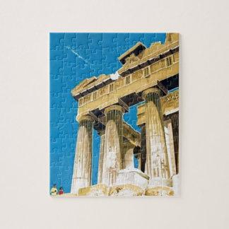 Temple vintage de parthenon d'Athènes Grèce de Puzzle