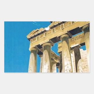 Temple vintage de parthenon d'Athènes Grèce de Sticker Rectangulaire