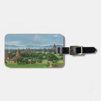 Temples dans Bagan, Myanmar Étiquette À Bagage