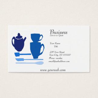 Temps anglais de thé de cuisine d'aquarelle cartes de visite