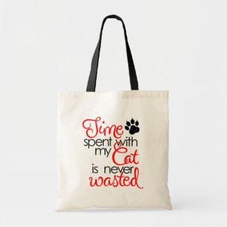 Temps avec le chat sac