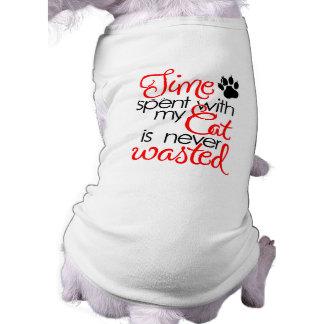 Temps avec le chat t-shirt pour chien