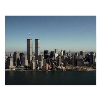 Temps clair NYC de Tours jumelles de la carte Carte Postale