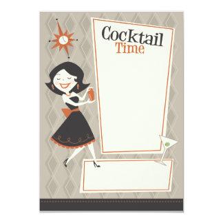 Temps de cocktail carton d'invitation  12,7 cm x 17,78 cm